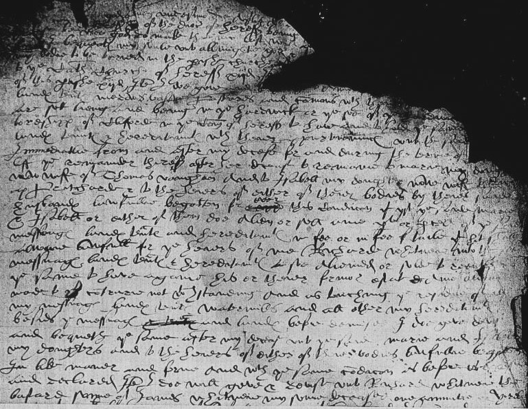 Will of Richard Whitney, 1583 Page 1.jpg