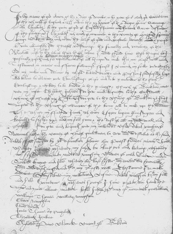 Will of Elizabeth Whitney of Newcourt, 1583.jpg