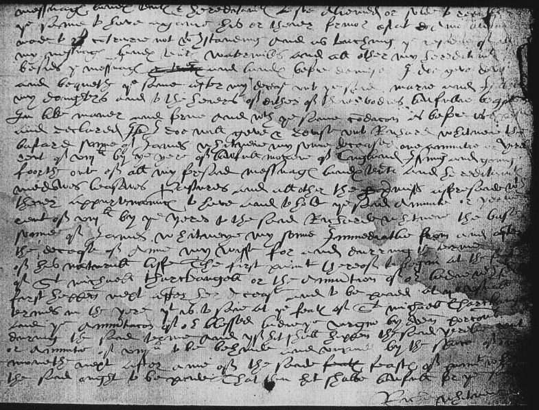 Will of Richard Whitney, 1583 Page 2.jpg