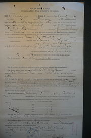 Declaration for Widow's Pension, 6 Feb 1911