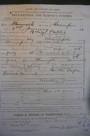 Widow's Pension Declaration