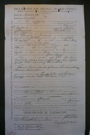 Soldier's Pension Declaration