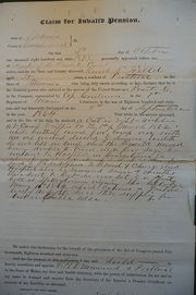 Declaration for Invalid Pension, 2 Oct 1873