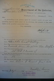 Reply to Inquiry, 1898