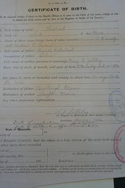 Earl Garland Birth Certificate