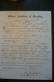 Officer' Certificate of Disability, 2 Oct 1873