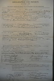 Declaration for Pension, 1922