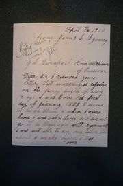 1913 letter from James L. B. Young